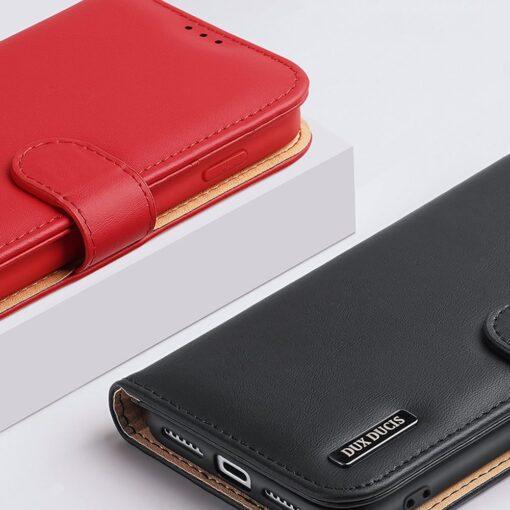 iPhone SE 2020 iPhone 8 iPhone 7 Dux Ducis Hivo Genuine Leather raamatkaaned punane 14