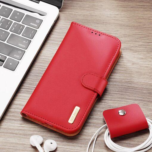 iPhone SE 2020 iPhone 8 iPhone 7 Dux Ducis Hivo Genuine Leather raamatkaaned punane 15
