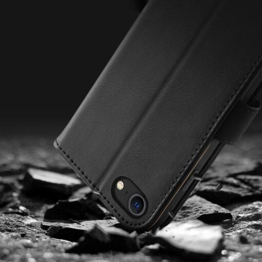 iPhone SE 2020 iPhone 8 iPhone 7 Dux Ducis Hivo Genuine Leather raamatkaaned punane 16