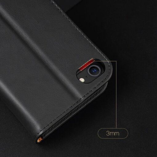 iPhone SE 2020 iPhone 8 iPhone 7 Dux Ducis Hivo Genuine Leather raamatkaaned punane 17