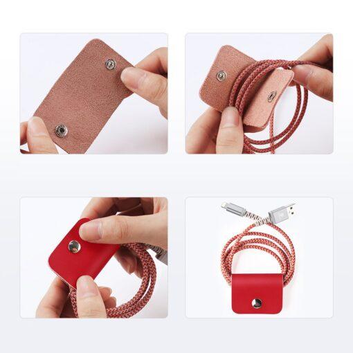 iPhone SE 2020 iPhone 8 iPhone 7 Dux Ducis Hivo Genuine Leather raamatkaaned punane 7