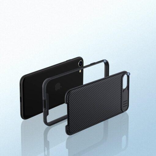 iPhone SE 2020 iPhone 8 iPhone 7 Nillkin CamShield Pro umbris kaamera kaitsega must 10