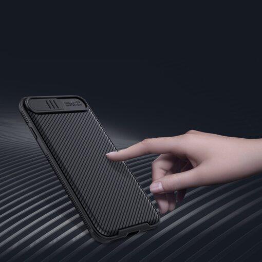 iPhone SE 2020 iPhone 8 iPhone 7 Nillkin CamShield Pro umbris kaamera kaitsega must 11