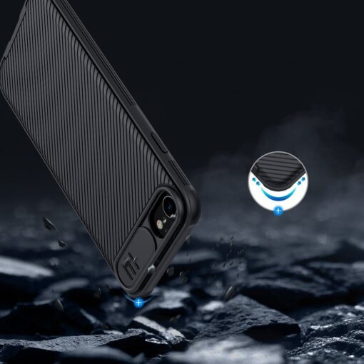 iPhone SE 2020 iPhone 8 iPhone 7 Nillkin CamShield Pro umbris kaamera kaitsega must 14