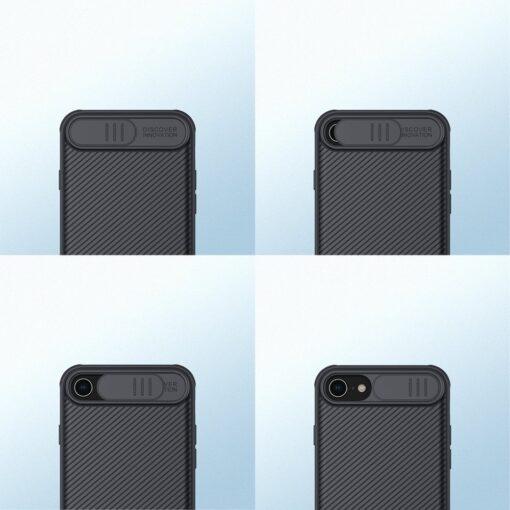 iPhone SE 2020 iPhone 8 iPhone 7 Nillkin CamShield Pro umbris kaamera kaitsega must 3