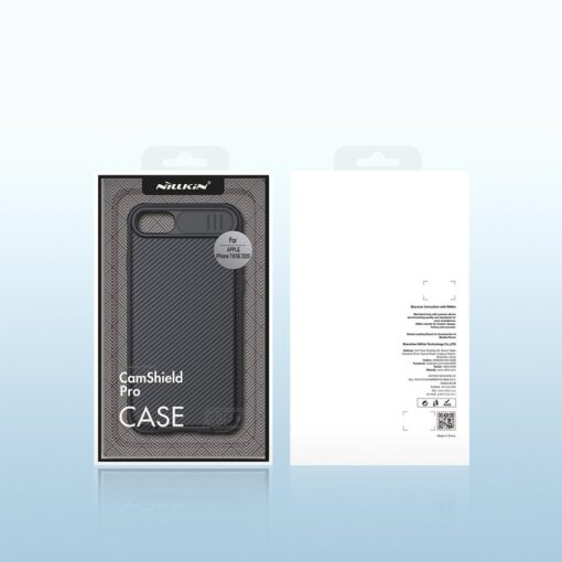 iPhone SE 2020 iPhone 8 iPhone 7 Nillkin CamShield Pro umbris kaamera kaitsega must 4