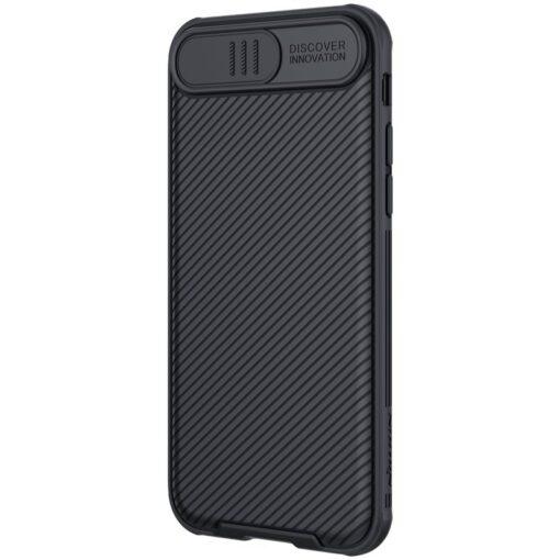 iPhone SE 2020 iPhone 8 iPhone 7 Nillkin CamShield Pro umbris kaamera kaitsega must 5