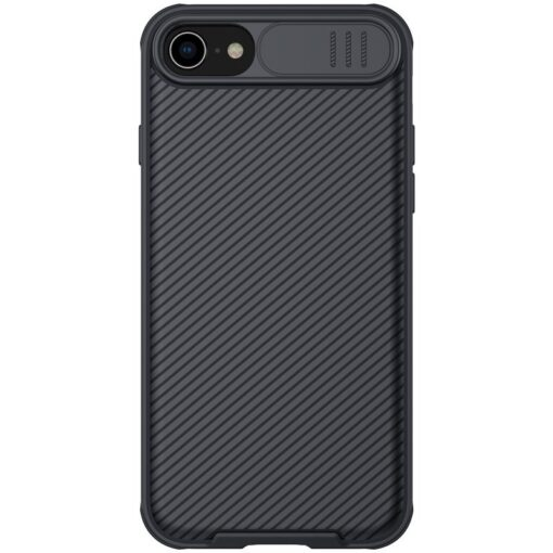 iPhone SE 2020 iPhone 8 iPhone 7 Nillkin CamShield Pro umbris kaamera kaitsega must