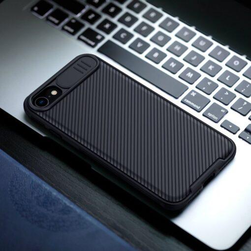 iPhone SE 2020 iPhone 8 iPhone 7 Nillkin CamShield Pro umbris kaamera kaitsega must 6