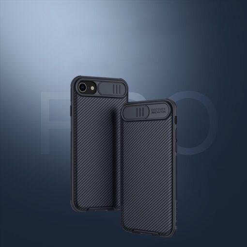 iPhone SE 2020 iPhone 8 iPhone 7 Nillkin CamShield Pro umbris kaamera kaitsega must 8