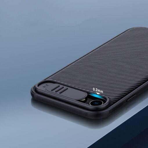 iPhone SE 2020 iPhone 8 iPhone 7 Nillkin CamShield Pro umbris kaamera kaitsega must 9