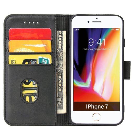 iPhone SE 2020 iPhone 8 iPhone 7 magnetiga raamatkaaned must 2