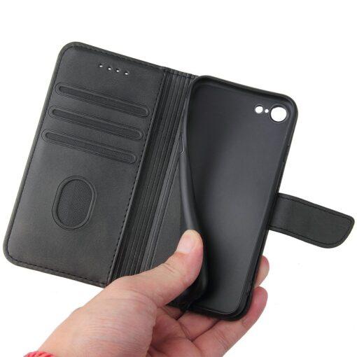 iPhone SE 2020 iPhone 8 iPhone 7 magnetiga raamatkaaned must 3