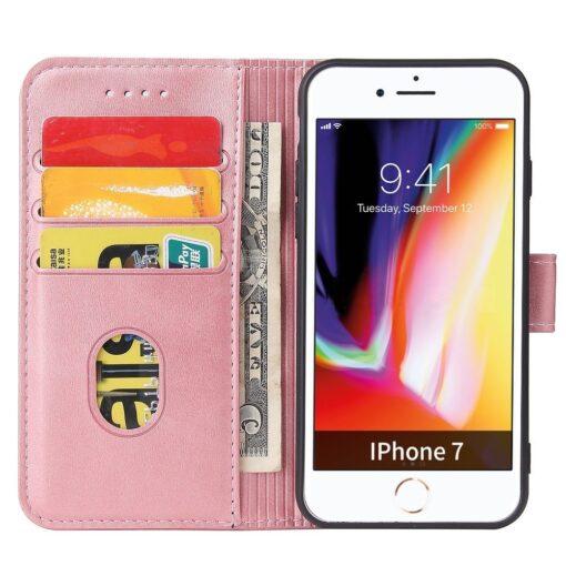 iPhone SE 2020 iPhone 8 iPhone 7 magnetiga raamatkaaned roosa 2