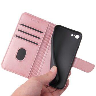 iPhone SE 2020 iPhone 8 iPhone 7 magnetiga raamatkaaned roosa 4