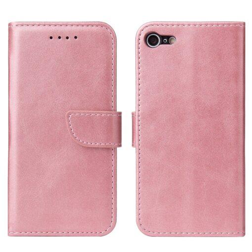 iPhone SE 2020 iPhone 8 iPhone 7 magnetiga raamatkaaned roosa