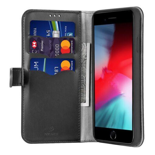 iPhone SE 2020 iPhone 8 iPhone 7 nahast kaaned Dux Ducis Kado must 1