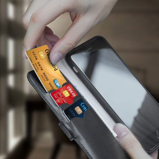 iPhone SE 2020 iPhone 8 iPhone 7 nahast kaaned Dux Ducis Kado must 10