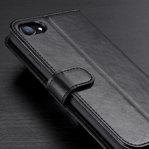 iPhone SE 2020 iPhone 8 iPhone 7 nahast kaaned Dux Ducis Kado must 11