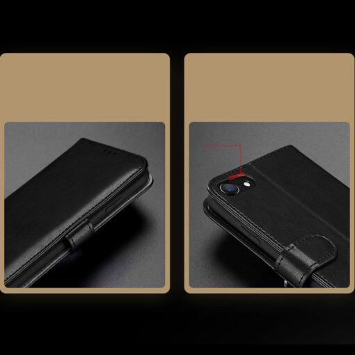 iPhone SE 2020 iPhone 8 iPhone 7 nahast kaaned Dux Ducis Kado must 14