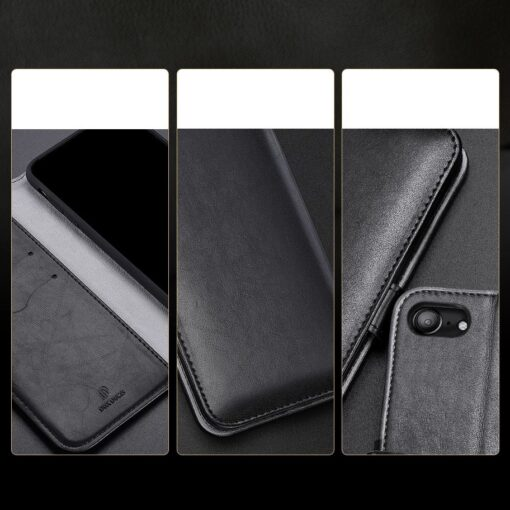 iPhone SE 2020 iPhone 8 iPhone 7 nahast kaaned Dux Ducis Kado must 15