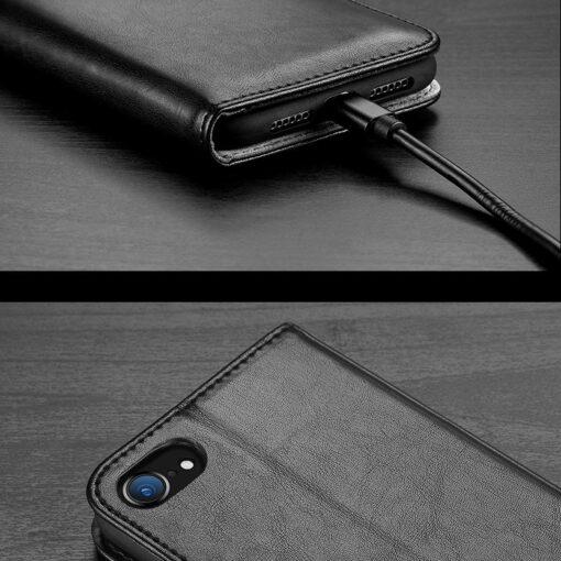 iPhone SE 2020 iPhone 8 iPhone 7 nahast kaaned Dux Ducis Kado must 20