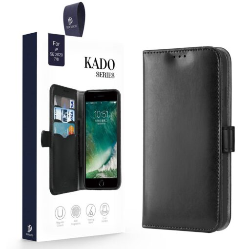 iPhone SE 2020 iPhone 8 iPhone 7 nahast kaaned Dux Ducis Kado must 22
