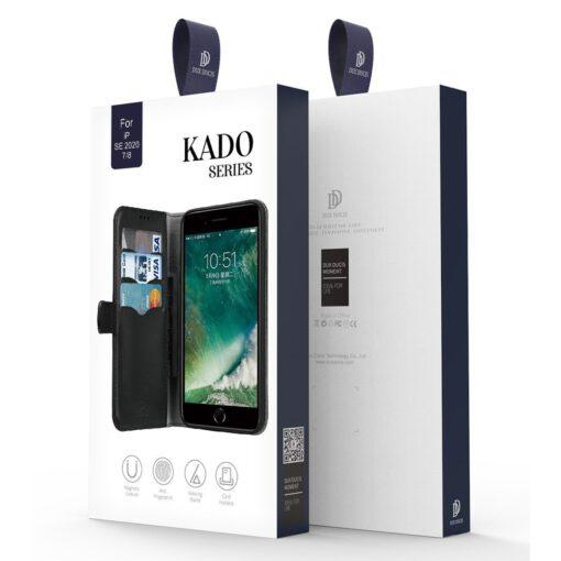 iPhone SE 2020 iPhone 8 iPhone 7 nahast kaaned Dux Ducis Kado must 23