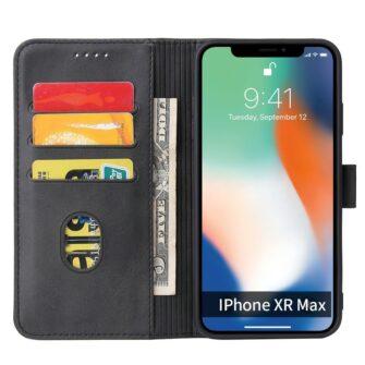 iPhone XR magnetiga raamatkaaned must 2