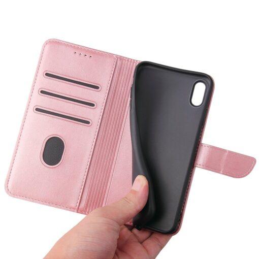 iPhone XR magnetiga raamatkaaned roosa 1