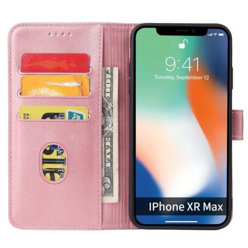 iPhone XR magnetiga raamatkaaned roosa 3