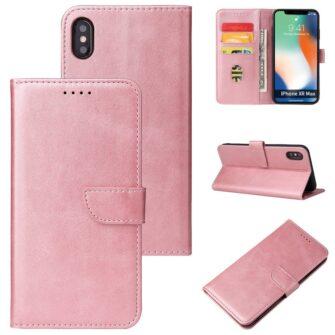 iPhone XR magnetiga raamatkaaned roosa 5