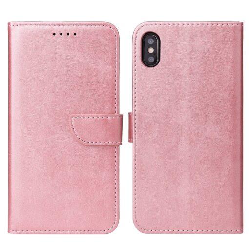 iPhone XR magnetiga raamatkaaned roosa