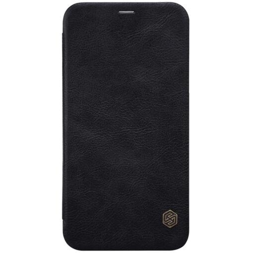 iPhone XS X Kaaned nahast Nillkin Qin must 1