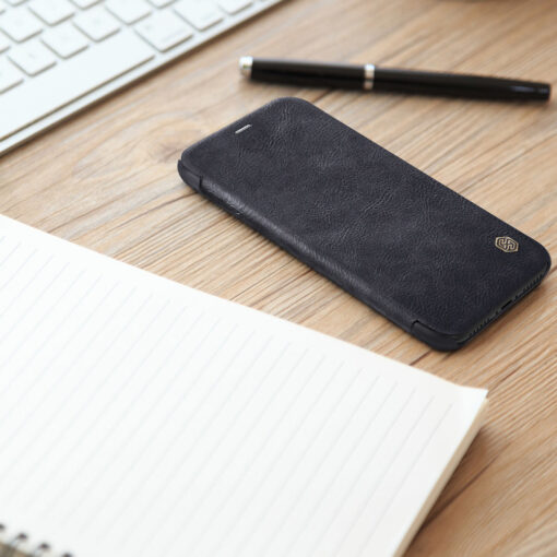 iPhone XS X Kaaned nahast Nillkin Qin must 6