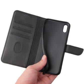 iPhone XS iPhone X magnetiga raamatkaaned must 2