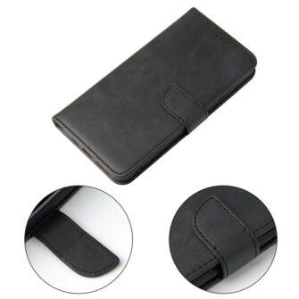 iPhone XS iPhone X magnetiga raamatkaaned must 5