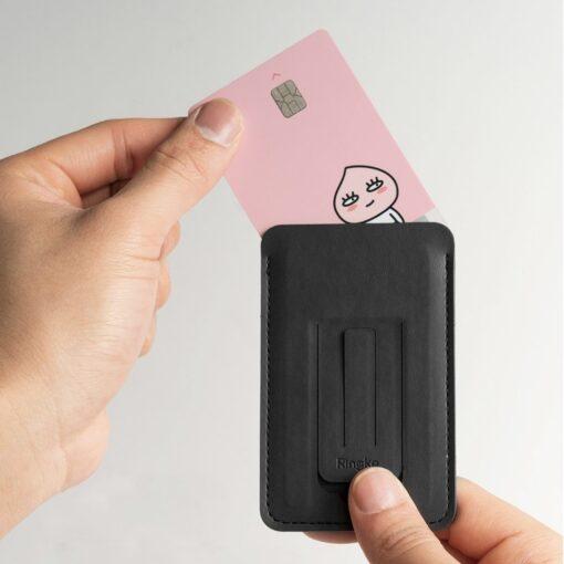 Ringke kaardihoidja telefonile ACFC0024 must 9
