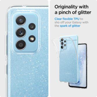 Samsung A52 Galaxy umbris Spigen Liquid Crystal Glitter Crystal 4