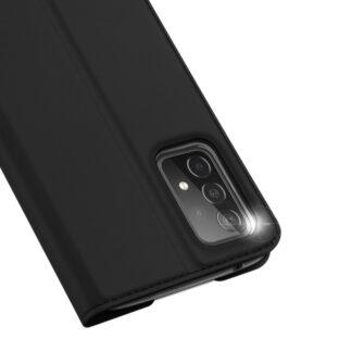 Samsung A52 kunstnahast kaaned kaarditaskuga DUX DUCIS Skin Pro must 1
