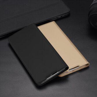 Samsung A52 kunstnahast kaaned kaarditaskuga DUX DUCIS Skin Pro must 10