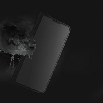 Samsung A52 kunstnahast kaaned kaarditaskuga DUX DUCIS Skin Pro must 13