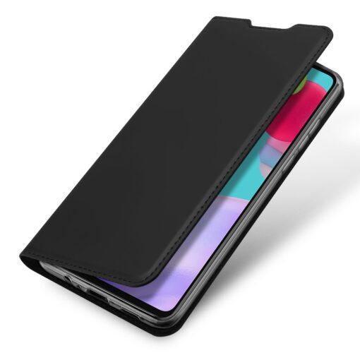 Samsung A52 kunstnahast kaaned kaarditaskuga DUX DUCIS Skin Pro must 2