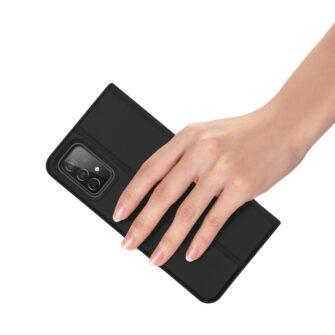 Samsung A52 kunstnahast kaaned kaarditaskuga DUX DUCIS Skin Pro must 5