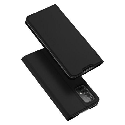 Samsung A52 kunstnahast kaaned kaarditaskuga DUX DUCIS Skin Pro must