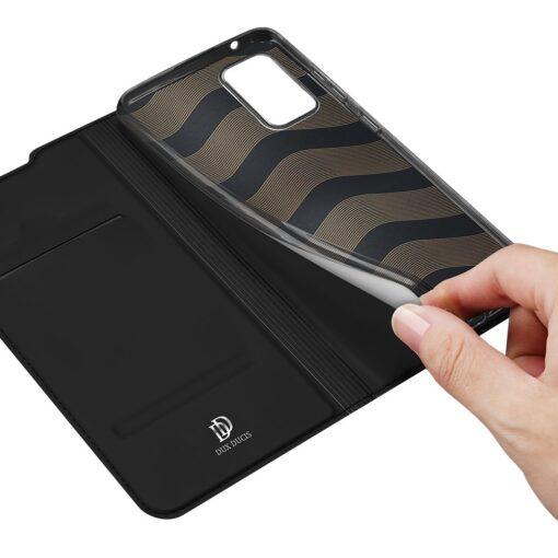 Samsung A52 kunstnahast kaaned kaarditaskuga DUX DUCIS Skin Pro must 6