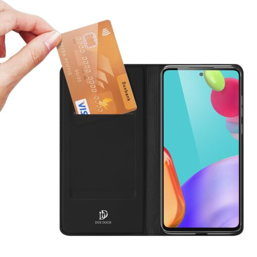 Samsung A52 kunstnahast kaaned kaarditaskuga DUX DUCIS Skin Pro must 7