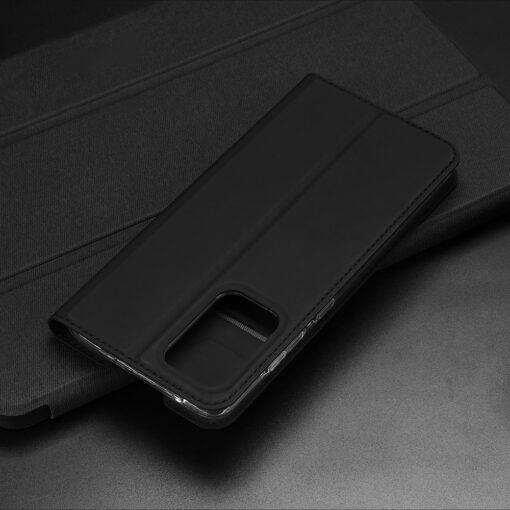 Samsung A52 kunstnahast kaaned kaarditaskuga DUX DUCIS Skin Pro must 9