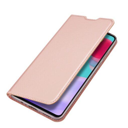Samsung A52 kunstnahast kaaned kaarditaskuga DUX DUCIS Skin Pro roosa 1