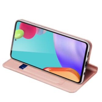 Samsung A52 kunstnahast kaaned kaarditaskuga DUX DUCIS Skin Pro roosa 2